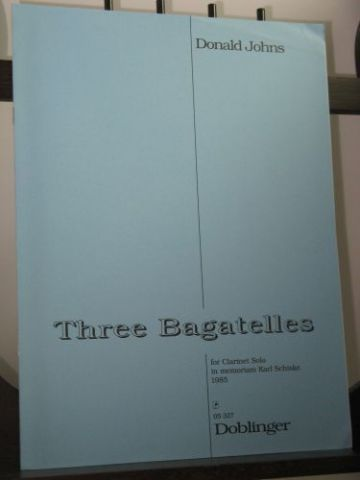 Johns D - Three Bagatelles for Clarinet Solo